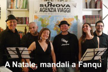 """Suonova - Copertina del 45 giri """"A Natale mandali a Fanqu"""""""